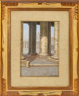 Sale 9170H - Lot 64 - Mario Bordi, Roma, oil on board, SLR, in gilt frame, 26cm x 18cm. Purchased Bordi Gallery, Florence.