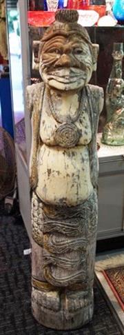 Sale 8320 - Lot 724 - Very large Indonesian tribal figure carved from a log in one piece c.1950