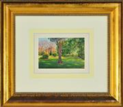 Sale 8325 - Lot 579 - Joseph Frost (1953 - ) - University Grounds 18.5 x 27.5cm