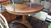 Sale 8375 - Lot 1096 - Victorian Mahogany Breakfast Table, on pedestal base with paw feet