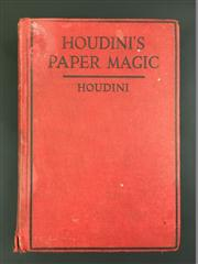 Sale 8539M - Lot 12 - Houdini, Houdinis Paper Magic: The Whole Art of Performing with Paper, including Paper Tearing, Paper Folding and Paper Puzzles....