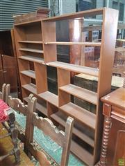 Sale 8601 - Lot 1555 - Timber Open Shelf Wall Unit (H: 183 W: 182 D: 22cm)