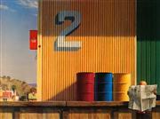 Sale 8658A - Lot 5001 - Jeffery Smart (1921 - 2013) - Morning Yarragon Siding, 1982-84 59.5 x 79.5cm (sheet size: 70 x 100cm)