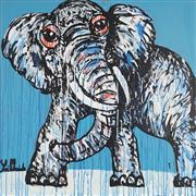 Sale 8880A - Lot 5004 - Yosi Messiah (1964 - ) - Blue Wisper 85 x 85 cm