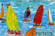 Sale 9002A - Lot 5048 - Evan Mackley (1940 - 219) - Sail Days 12 x 18 cm