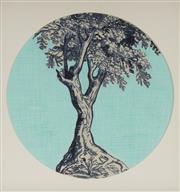 Sale 9084 - Lot 604 - Marika Borlase (1967 - ) - Memory Trees Series: Sea Teal, 2006 D: 29 cm (frame: 38 x 38 x 4 cm)