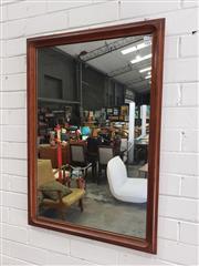 Sale 9092 - Lot 1072 - Mid-century Teak Framed Mirror (h62 x 90cm) -