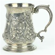 Sale 8314 - Lot 48 - English Hallmarked Sterling Silver George III Christening Mug