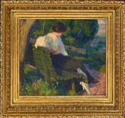 Sale 8358 - Lot 573 - Emanuel Phillips Fox (1865 - 1915) - Contemplative Moment 40 x 50cm