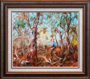 Sale 8415 - Lot 560 - Hugh Sawrey (1919 -1999) - Stingy Jones Sheep 49 x 59cm