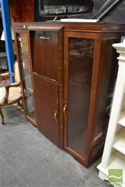 Sale 8480 - Lot 1163 - Timber Glass Front Display Cabinet