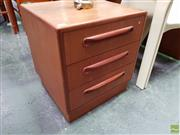 Sale 8585 - Lot 1038 - Pair of G-Plan Teak Three Drawer Chests