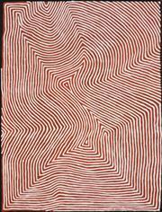 Sale 8565 - Lot 521 - George (Hairbrush) Tjungurrayi (c1947 - ) - Tingari 140 x 100cm