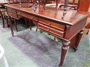 Sale 8570 - Lot 1037 - Mahogany Desk (77 x 150 x 65cm)