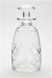Sale 8620A - Lot 34 - A vintage English Stuart hand cut lead crystal decanter c. 1950s, H 23cm.