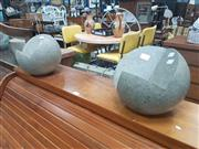 Sale 8676 - Lot 1334 - Pair of Composite Ball Form Stands