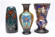 Sale 8701 - Lot 47 - Gouda Suite Of Three Vases