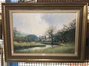 Sale 8730 - Lot 2086 - John Donaldson  - Country Landscape oil on board, 57 x 77cm, signed lower right