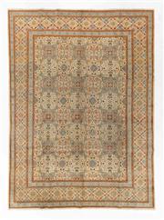 Sale 8770C - Lot 32 - A Persian Nain Silk Inlay, 370 x 270cm
