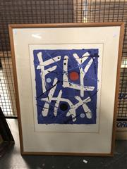 Sale 8789 - Lot 2144 - Artist Unknown - Out of the Blue  screenprint, ed. 10/17, 84 x 63cm (frame), signed lower right