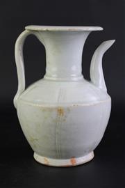 Sale 8840S - Lot 644 - Celadon Chinese Pourer, H 18cm