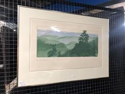 Sale 9139 - Lot 2010 - PETER HICKEY - Katoomba Horizon etching and aquatint ed. 9/35 (frame: 52 x 74cm) signed