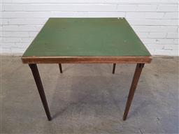 Sale 9157 - Lot 1014 - Vintage folding card table