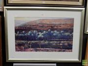 Sale 8407T - Lot 2006 - Brendan Darby (1952 - ) (2 works) - Corellas Palm Valley; The Falls, Kakadu 46.5 x 79cm; 39 x 38.5cm (frame sizes: 75.5 x 106cm; 67....
