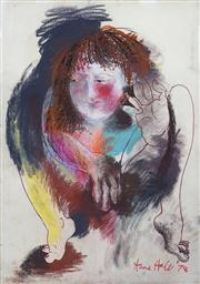 Sale 8410A - Lot 5009 - Anne Hall (1945 - ) - Untitled, 1978 (Seated Woman) 101.5 x 70.5cm (sheet size)