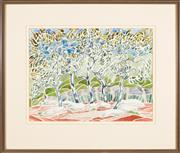 Sale 8440A - Lot 79 - Edith Croaker - In Pedion Areos Garden, Athens 48 x 38cm