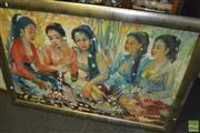 Sale 8425T - Lot 2090 - Artist Unknown (XX) - Wreathing 85.5 x 132.5cm