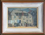 Sale 8443 - Lot 558 - Richard Hayley Lever (1876 - 1958) - Street Scene 14.5 x 22.5cm