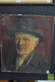 Sale 8530 - Lot 2011 - John Troischt (1877 - ) - Portrait; Young Boy (double-sided) 45.5 x 38cm