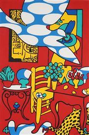 Sale 8565 - Lot 518 - Martin Sharp (1942 - 2013) - Pentecost, 1986 98.5 x 65.5cm