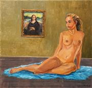 Sale 8619 - Lot 2077 - James Radford - Nude with Portrait of Mona Lisa, 101.5 x 101.5cm