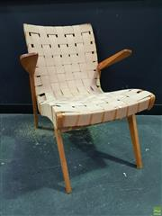 Sale 8607 - Lot 1094 - Douglas Snelling Webbed Armchair
