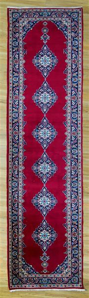Sale 8601C - Lot 98 - Persian Kashan Runner 380x104