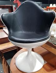 Sale 8984 - Lot 1081 - Vintage Tub Chair on Tulip Base (H:90 x W:67cm)