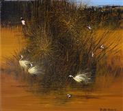 Sale 9001 - Lot 508 - Richard Bogusz (1947 - ) - Waterbirds 59.5 x 66.5 cm (frame: 80 x 87 x 4 cm)