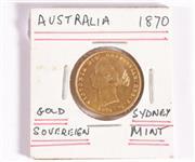 Sale 9035M - Lot 845 - Sydney Mint Australian 1870 gold sovereign