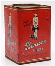Sale 9052 - Lot 23 - Vintage Bensons Toffee Tin H:23cm