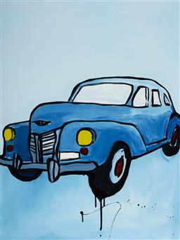 Sale 9081A - Lot 5018 - Jasper Knight (1978 - ) - Blue Cuban, 2016 102 x 76 cm (frame: 121 x 95 x 4 cm)