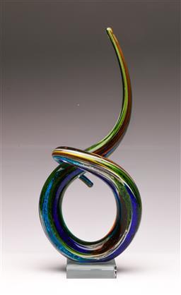 Sale 9104 - Lot 16 - Art glass spiral sculpture (H40cm)