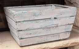 Sale 9134H - Lot 39 - A shabby chic timber kindling box, Height 25cm x Width 46 cm x Depth 33