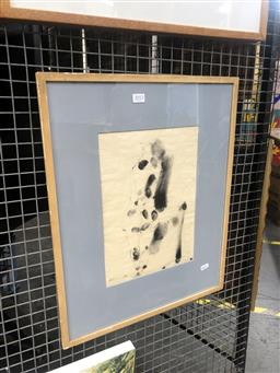 Sale 9152 - Lot 2013 - Harold Rubin Figure, 1968, ink on paper, frame: 53 x 43 cm, signed and dated lower right -