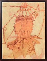 Sale 8316 - Lot 532 - Joshua Yeldham (1970 - ) - Bunyip in a Bird Cage 46 x 35.5cm