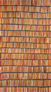 Sale 8565 - Lot 532 - Jeannie Mills Pwerle (1965 - ) - Anaty (Desert Yam Story) 166 x 98cm