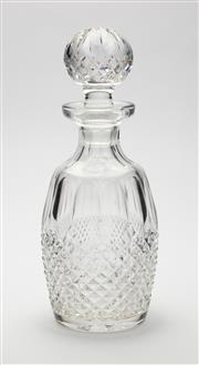 Sale 8620A - Lot 97 - An excellent quality Irish Waterford hand cut lead crystal decanter, H 27cm