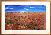 Sale 8668 - Lot 2039 - Artist Unknown - Outback Landscape, Mixed Media, 66.5x107cm