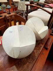Sale 8676 - Lot 1105 - Pair of Composite Ball Form Stands